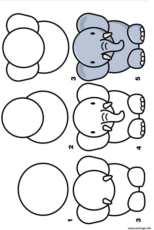 Coloriage Dessin Facile A Faire Elephant Dessin