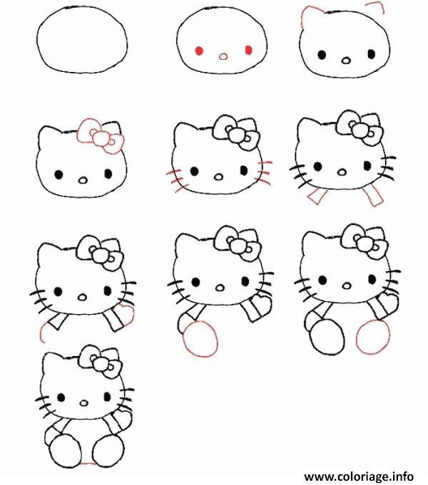 Coloriage Dessin Facile A Faire Hello Kitty Jecoloriecom
