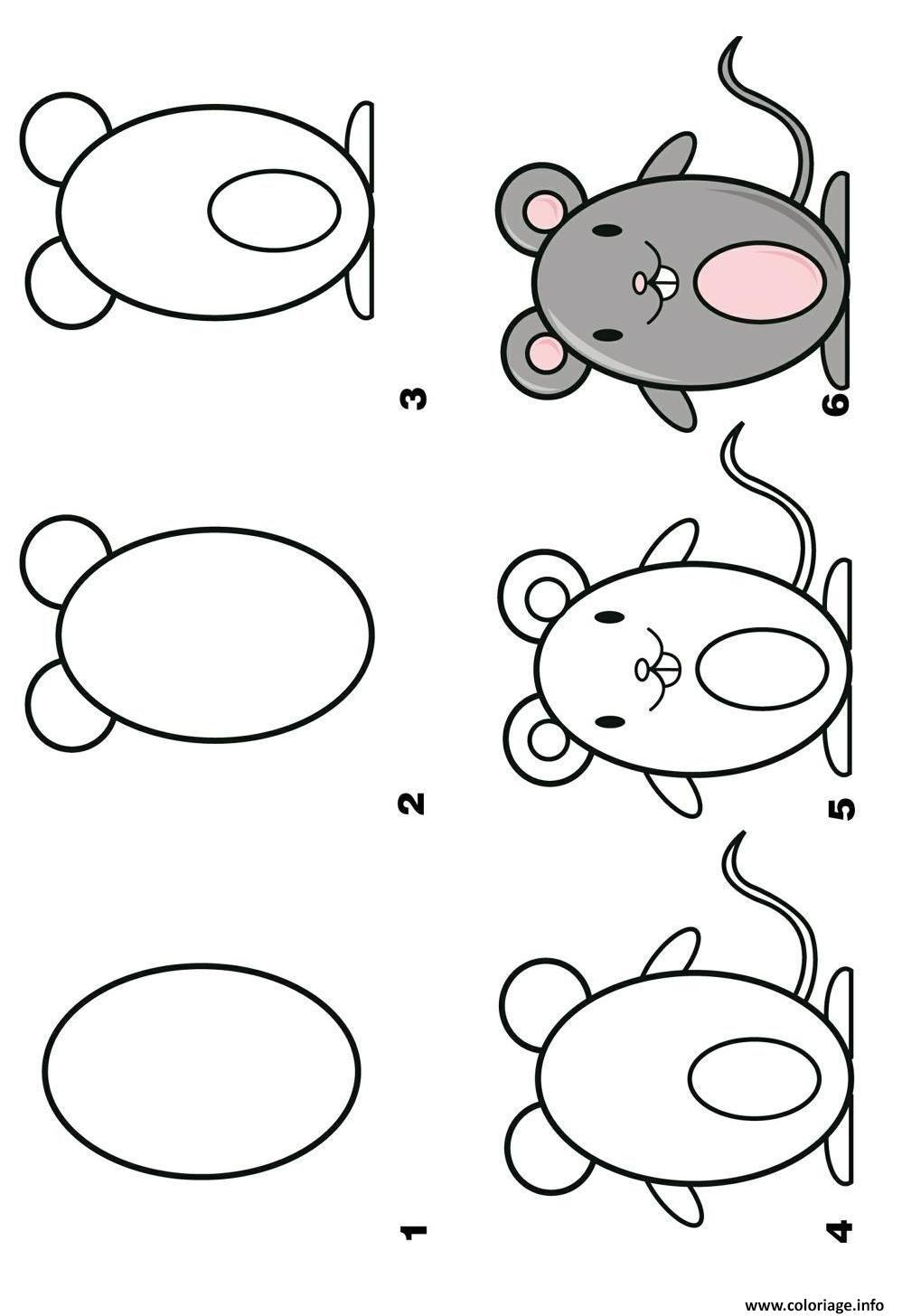 Coloriage Dessin Facile A Faire Un Rat Dessin Dessin Facile A Imprimer