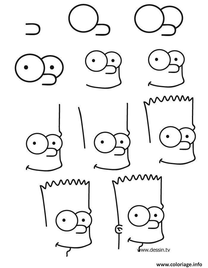 Coloriage comment dessiner bart simpson - Comment dessiner les simpson ...