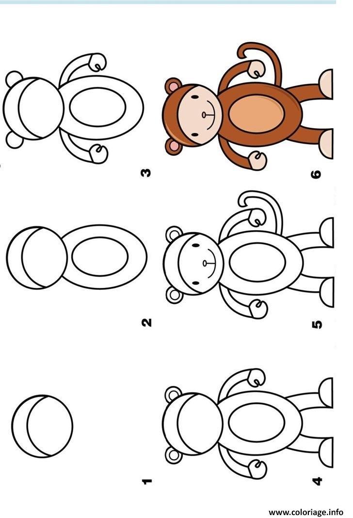 coloriage dessin facile a faire un singe dessin. Black Bedroom Furniture Sets. Home Design Ideas