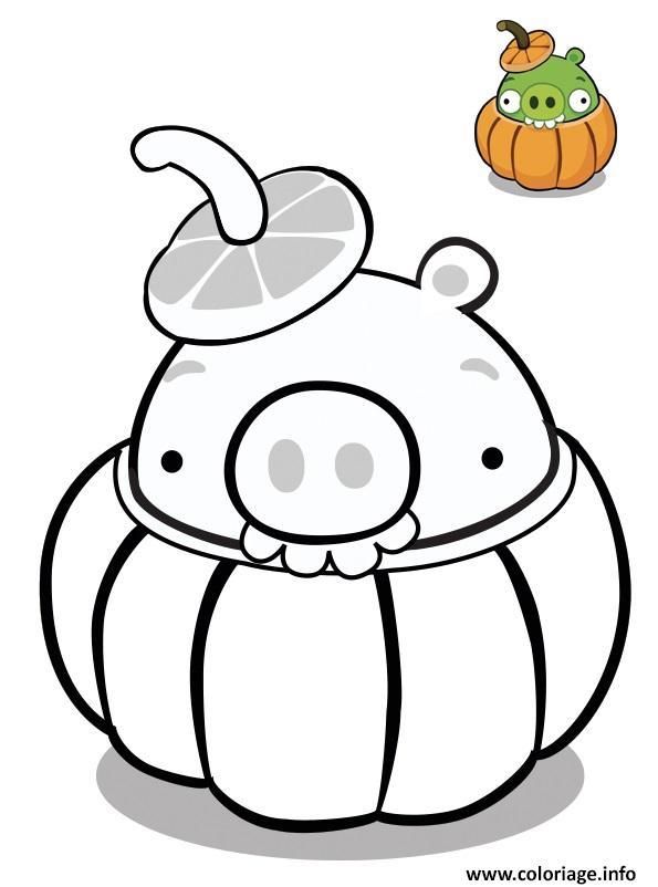 Dessin angry birds halloween Coloriage Gratuit à Imprimer