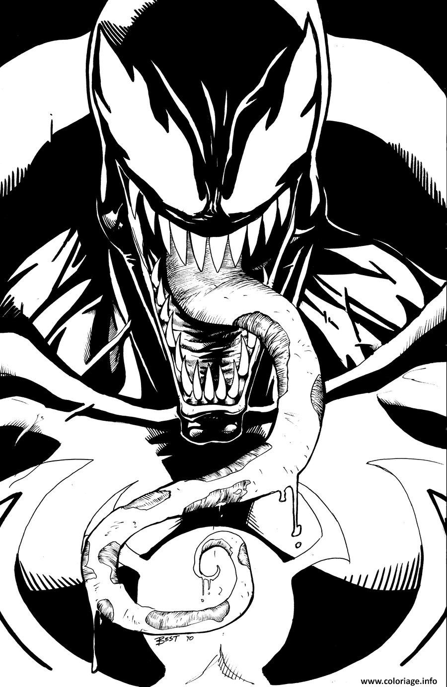 Coloriage heroes con venom by bestrrr - Coloriage venom ...