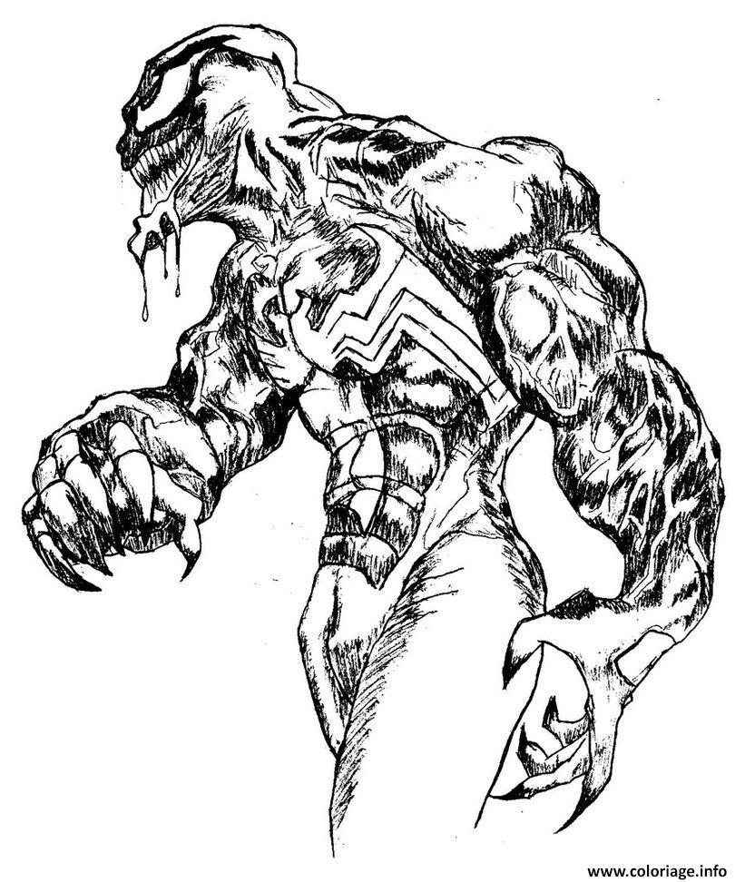 Coloriage Venom Complex Adult Jecolorie Com