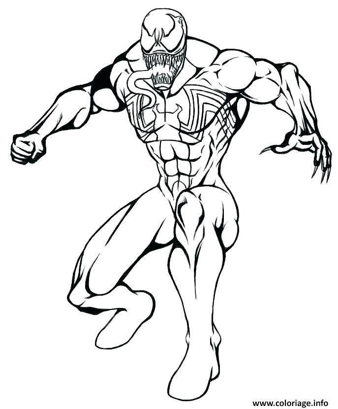 Coloriage venom de spiderman mode defense - Coloriage venom ...