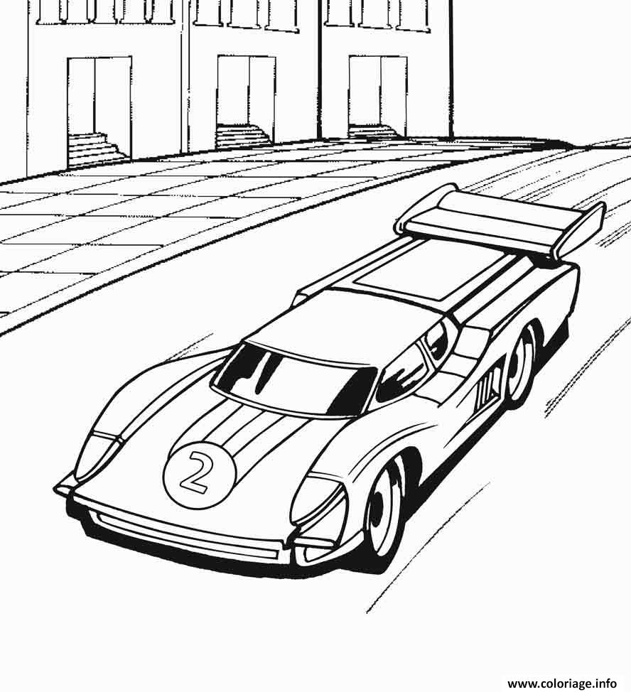 Coloriage hot wheels voiture de course dessin - Cars coloriage voitures ...