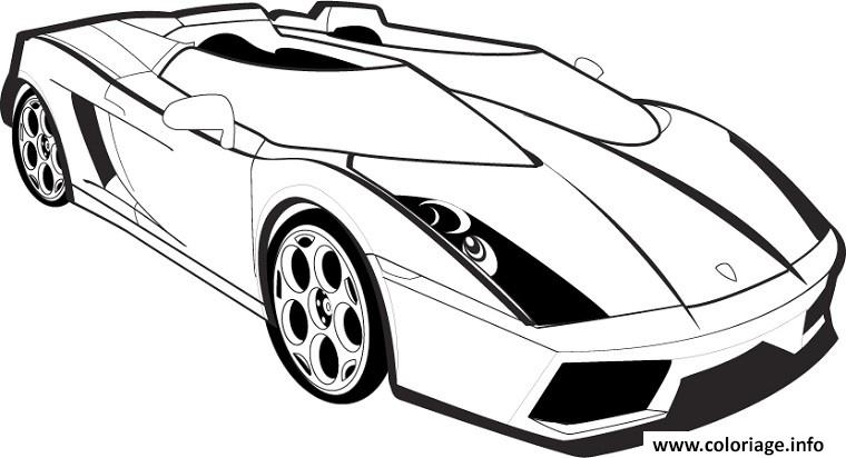 coloriage lambourgini voiture de course. Black Bedroom Furniture Sets. Home Design Ideas