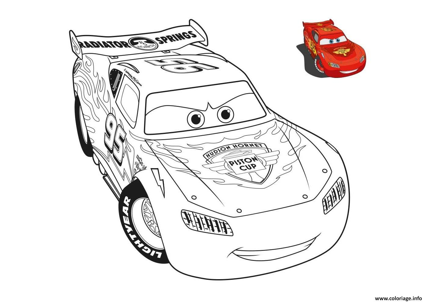 Coloriage cars 2 voiture de course dessin - Image a colorier cars 2 ...