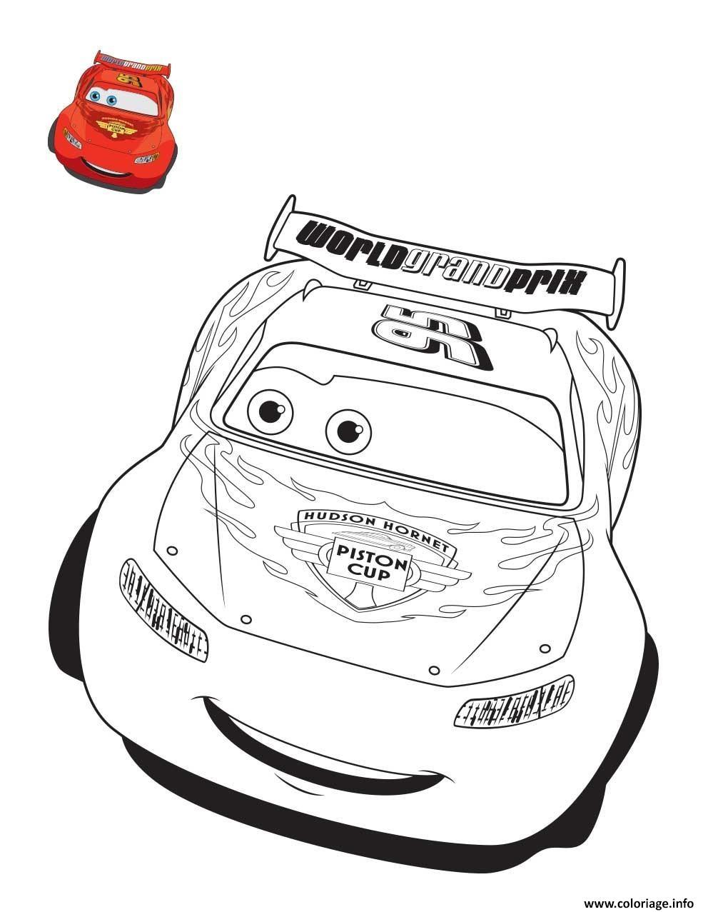 Coloriage Cars Flash Mcqueen Voiture De Course Jecolorie Com