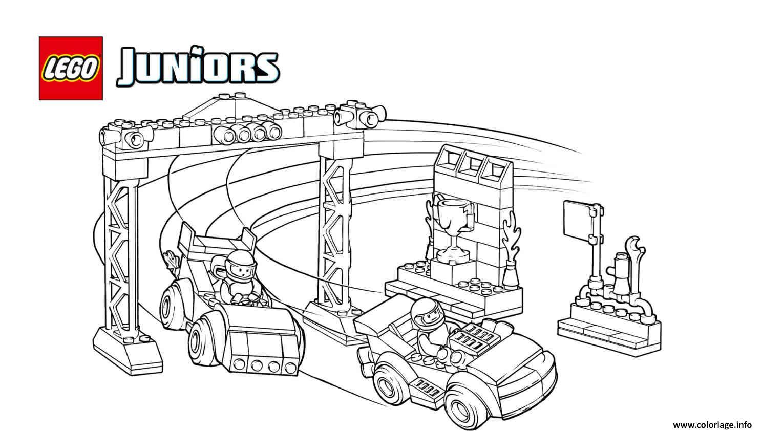 Coloriage voiture de course lego juniors dessin - Coloriage de voiture de courses ...