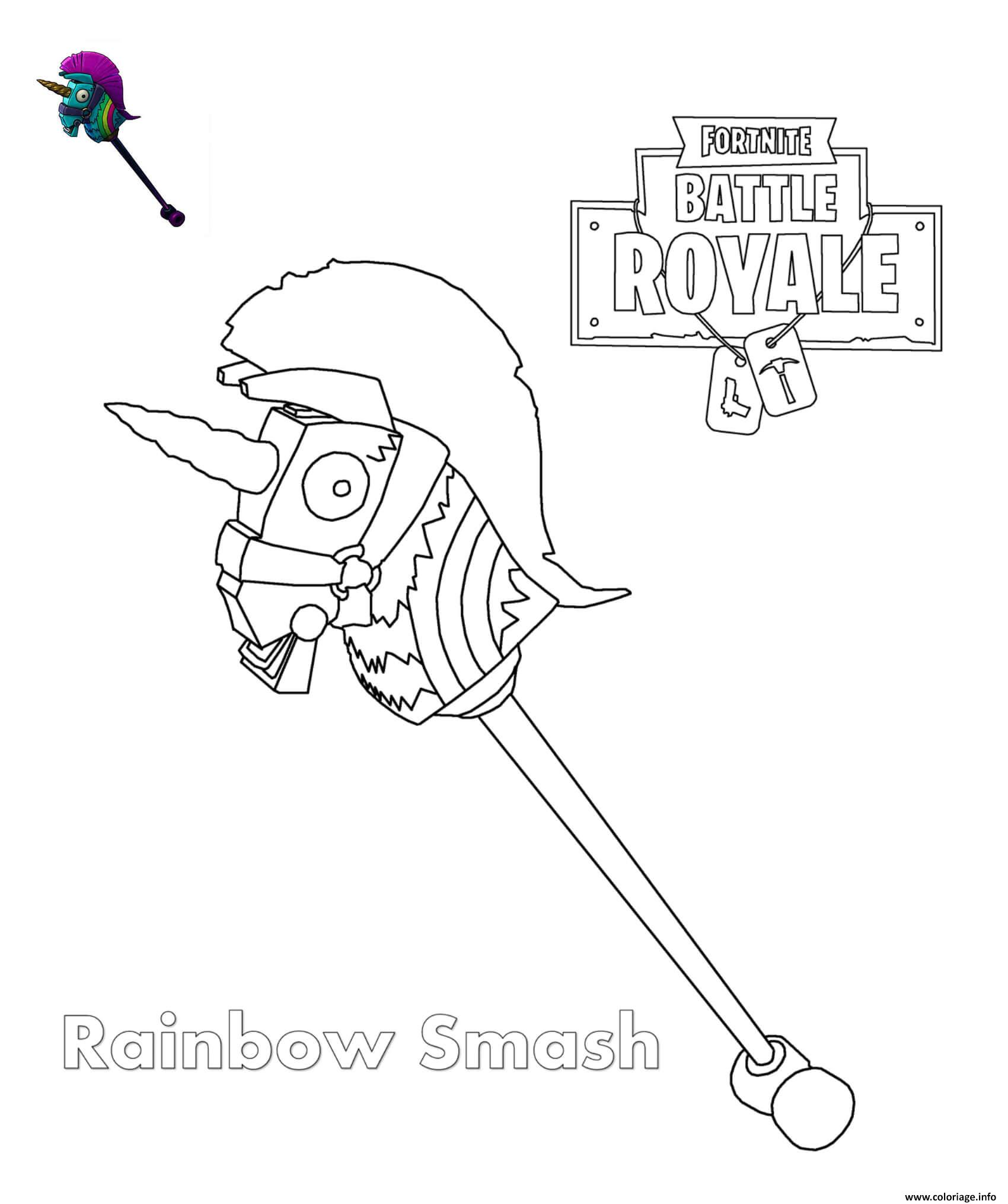 Coloriage Rainbow Smash Fortnite Dessin à Imprimer