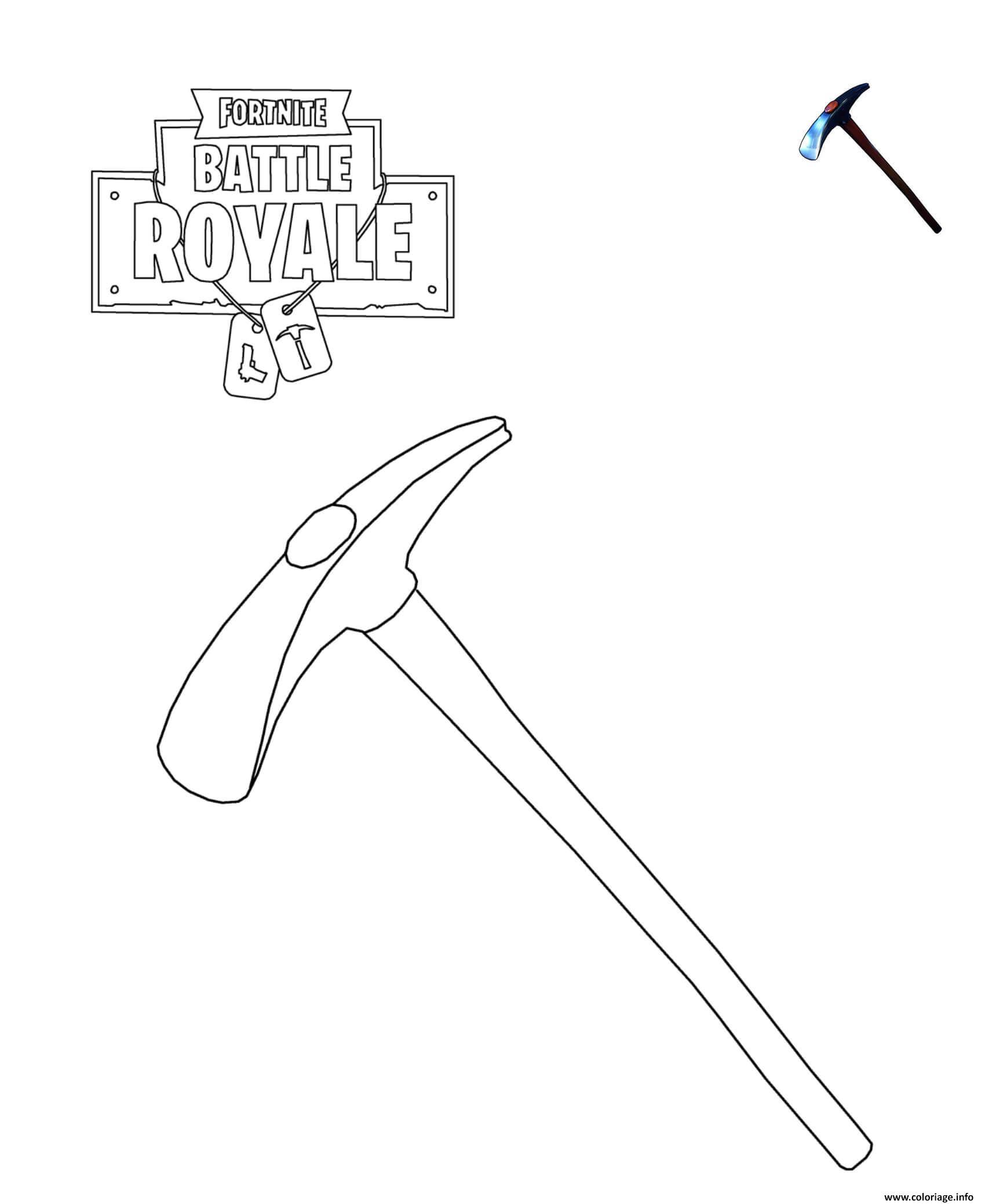 Coloriage Default Pickaxe Fortnite Dessin