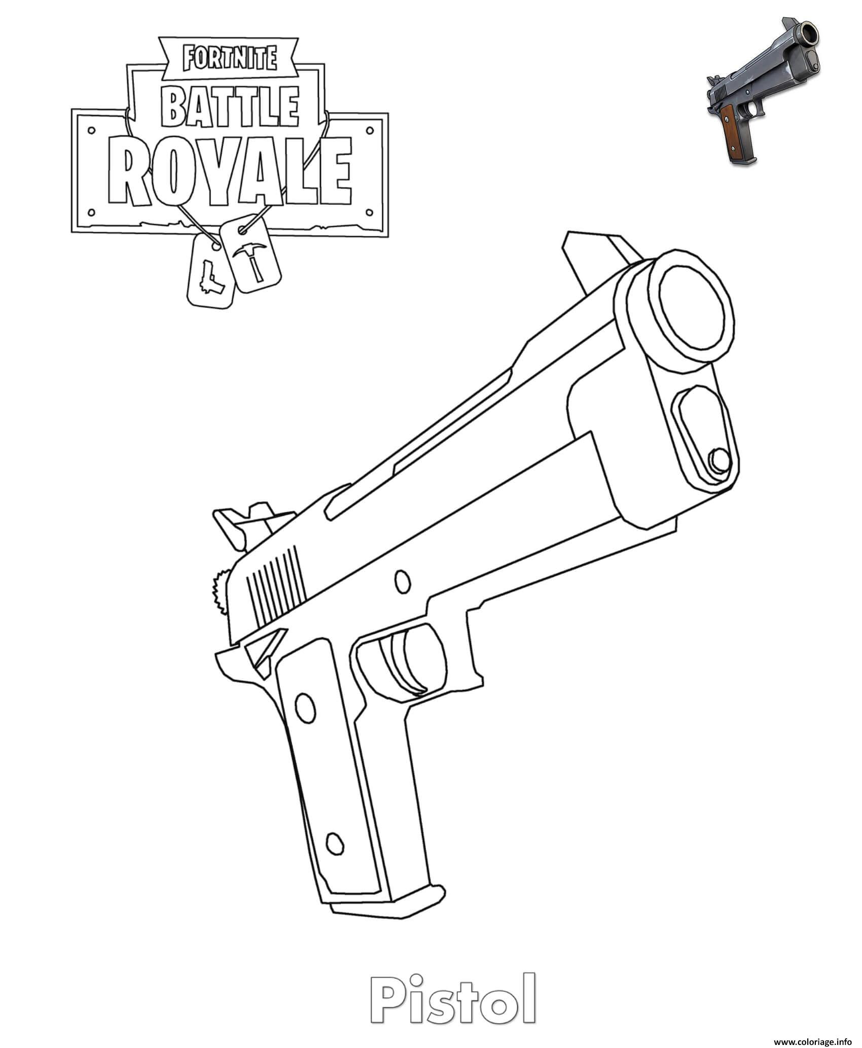 Coloriage Pistol Fortnite Item Jecolorie Com