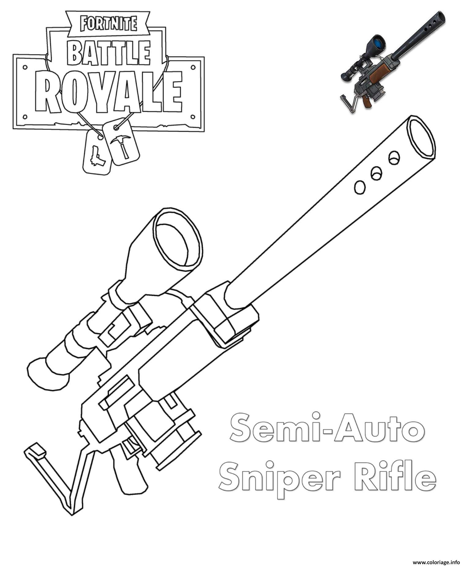 Coloriage sniper fortnite - Coloriage arme ...