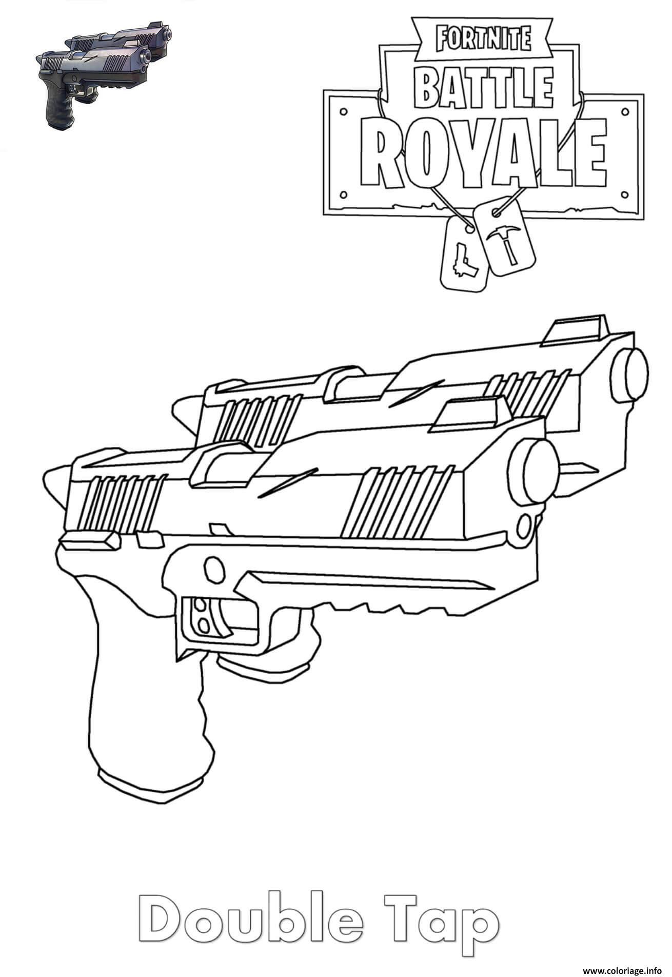 Fortnite Rifle Scar Coloring Page Imprimer en 2019 Coloriage
