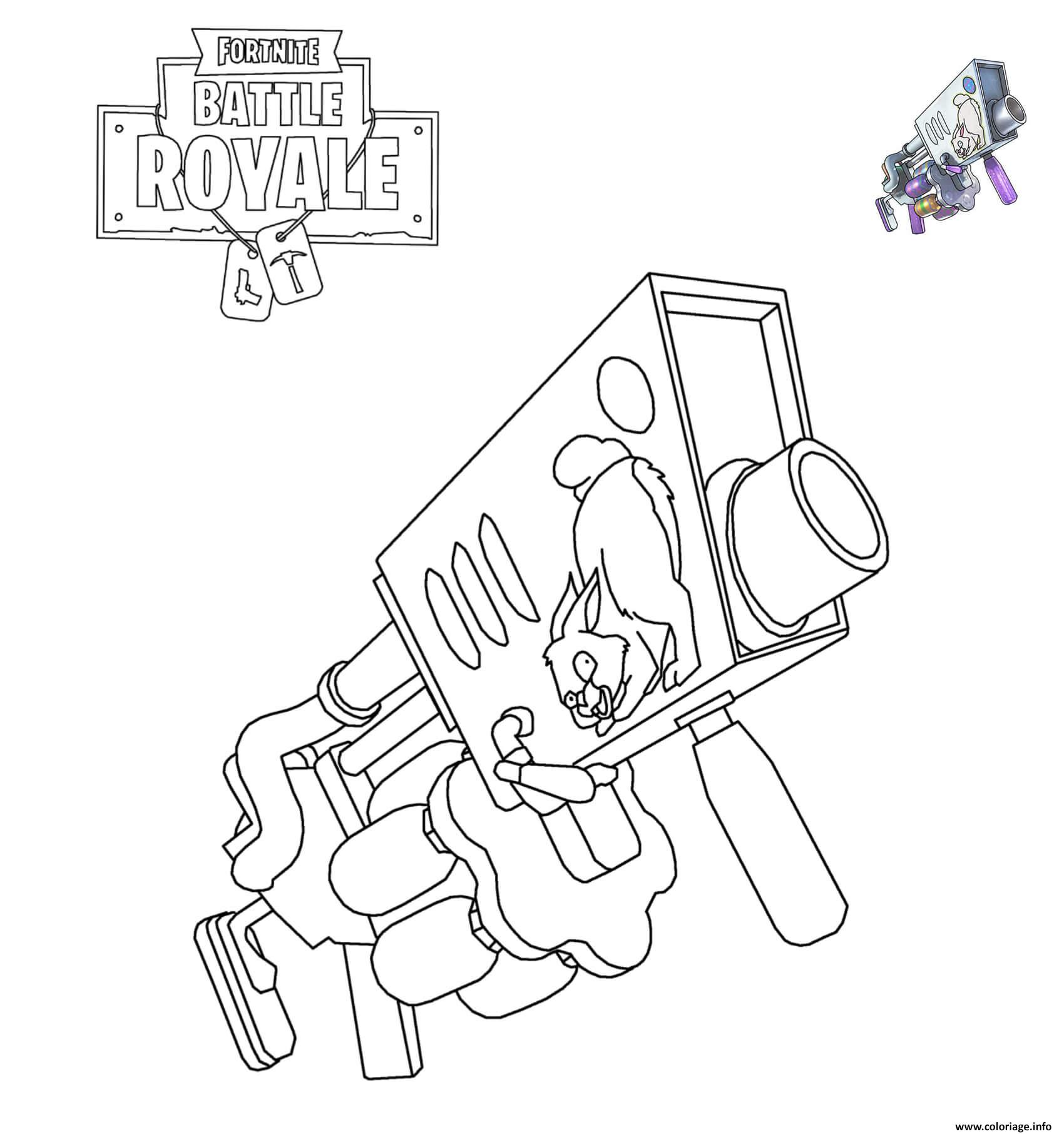 Coloriage Fortnite Egg Launcher Dessin