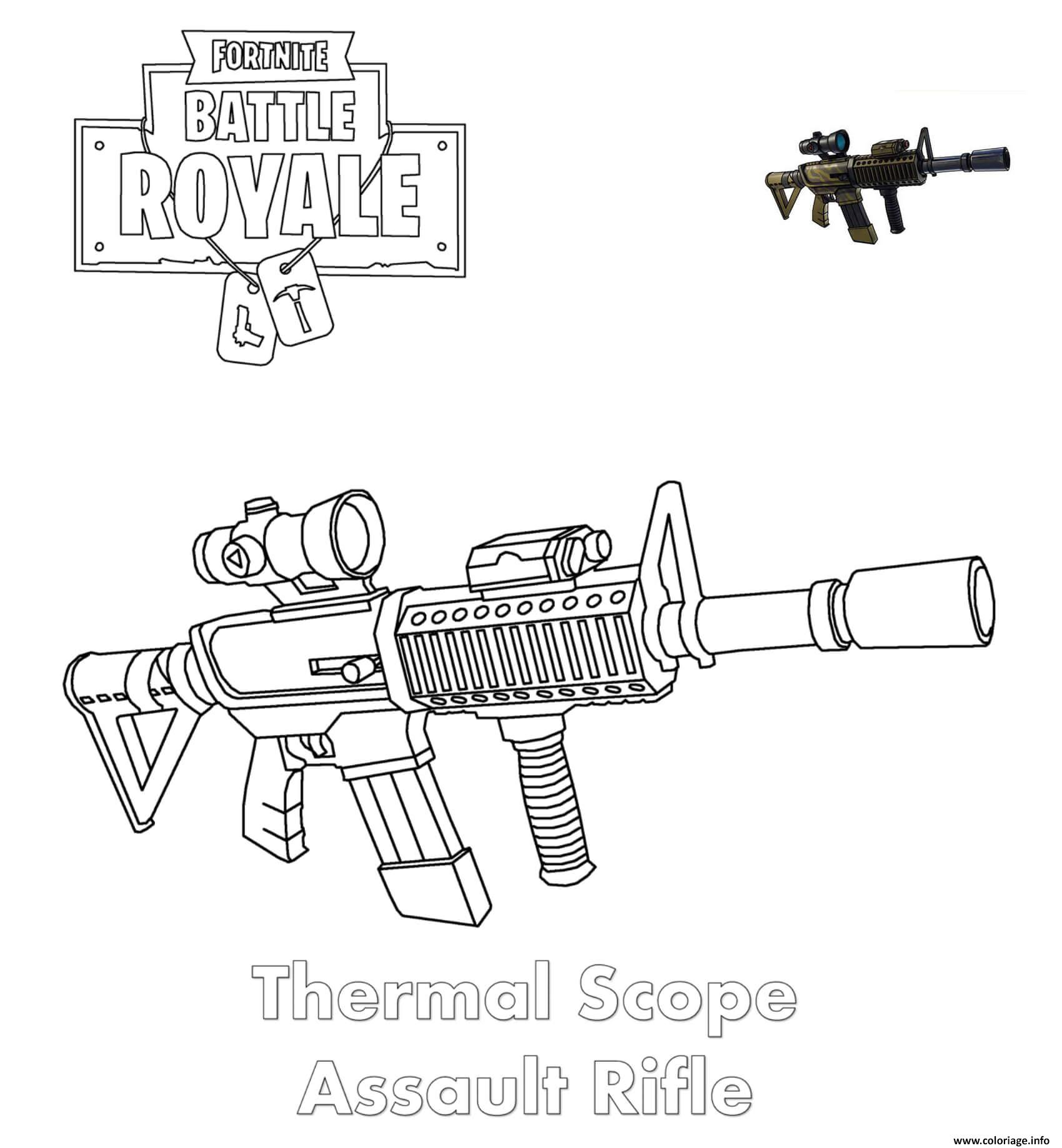 Coloriage Thermal Scope Assault Rifle Fortnite Dessin
