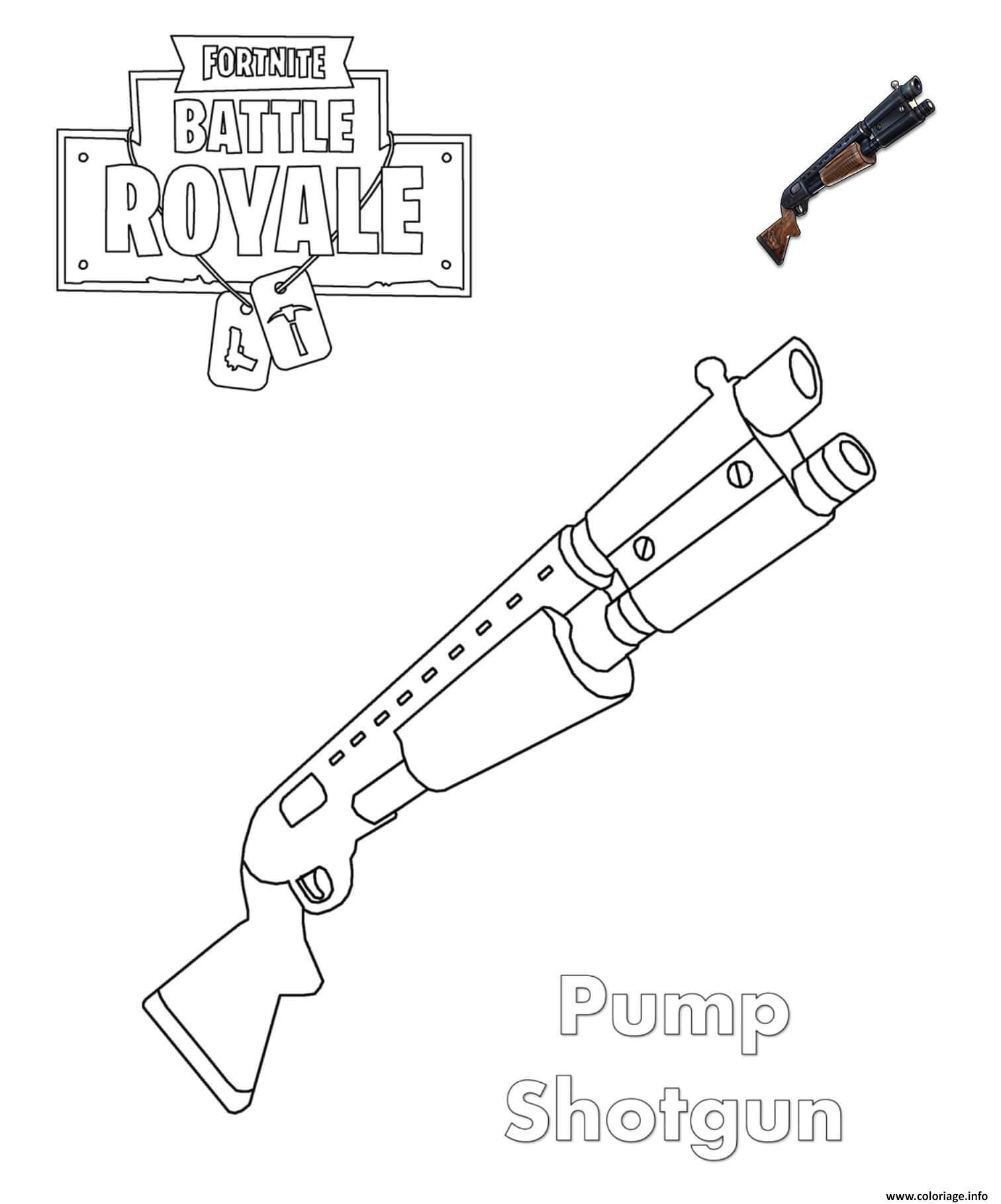 Coloriage Shotgun Fortnite Dessin