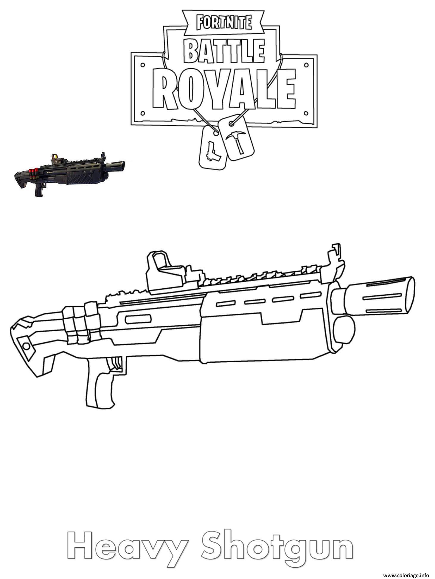 Coloriage Heavy Shotgun Fortnite Dessin