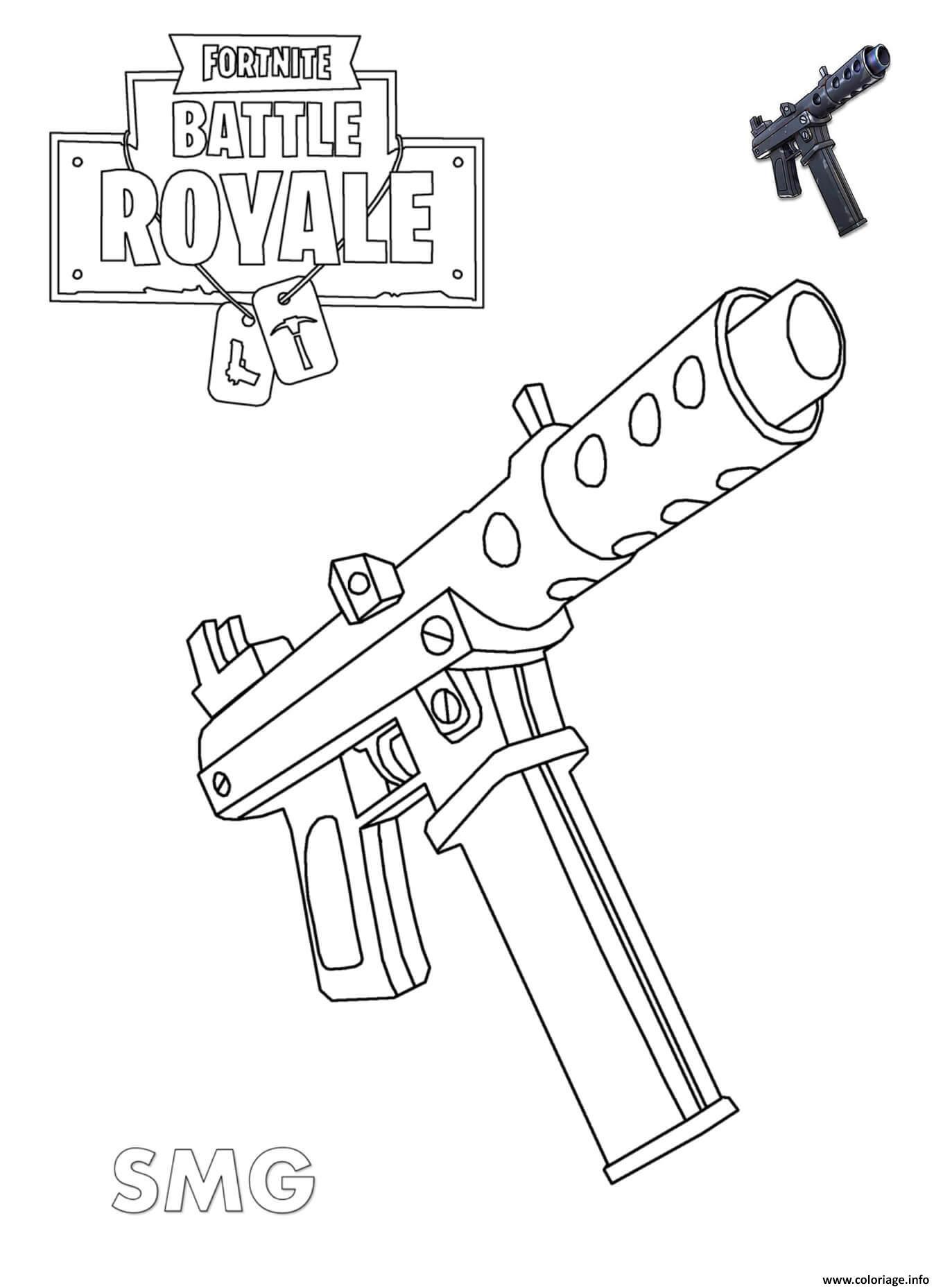 Kleurplaat Fortnite Skin Coloriage Machine Pistol Fortnite Jecolorie Com