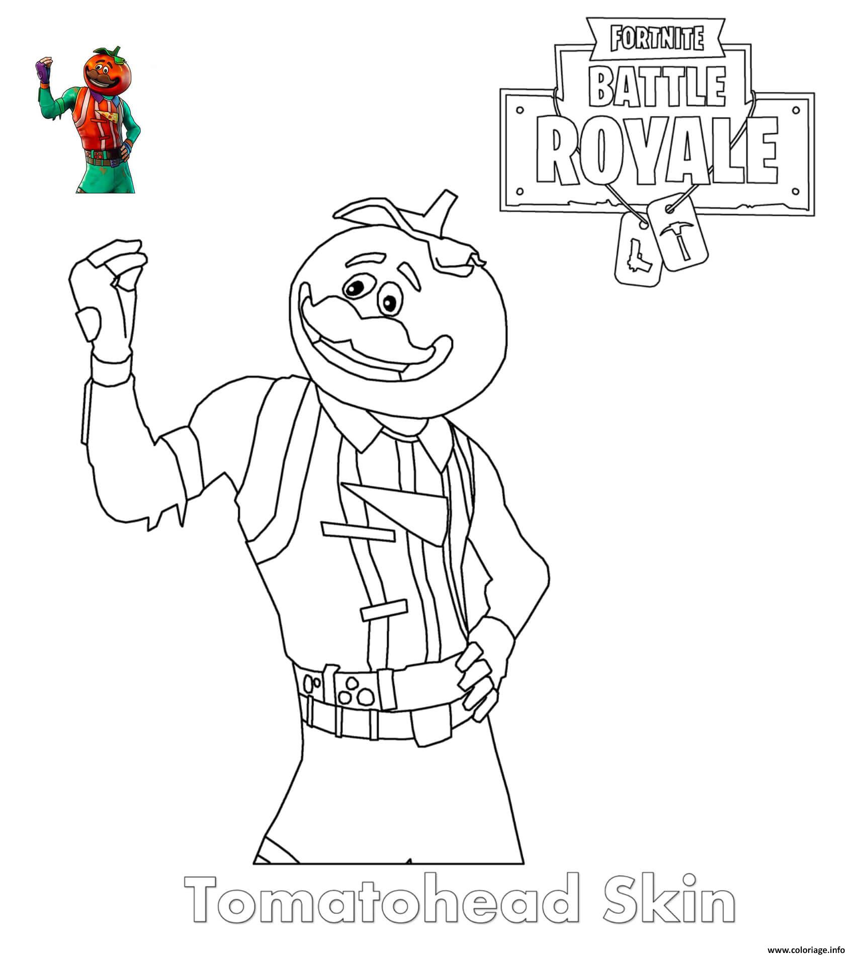 Coloriage Emoji Fortnite.Coloriage Tomatohead Skin Fortnite Dessin