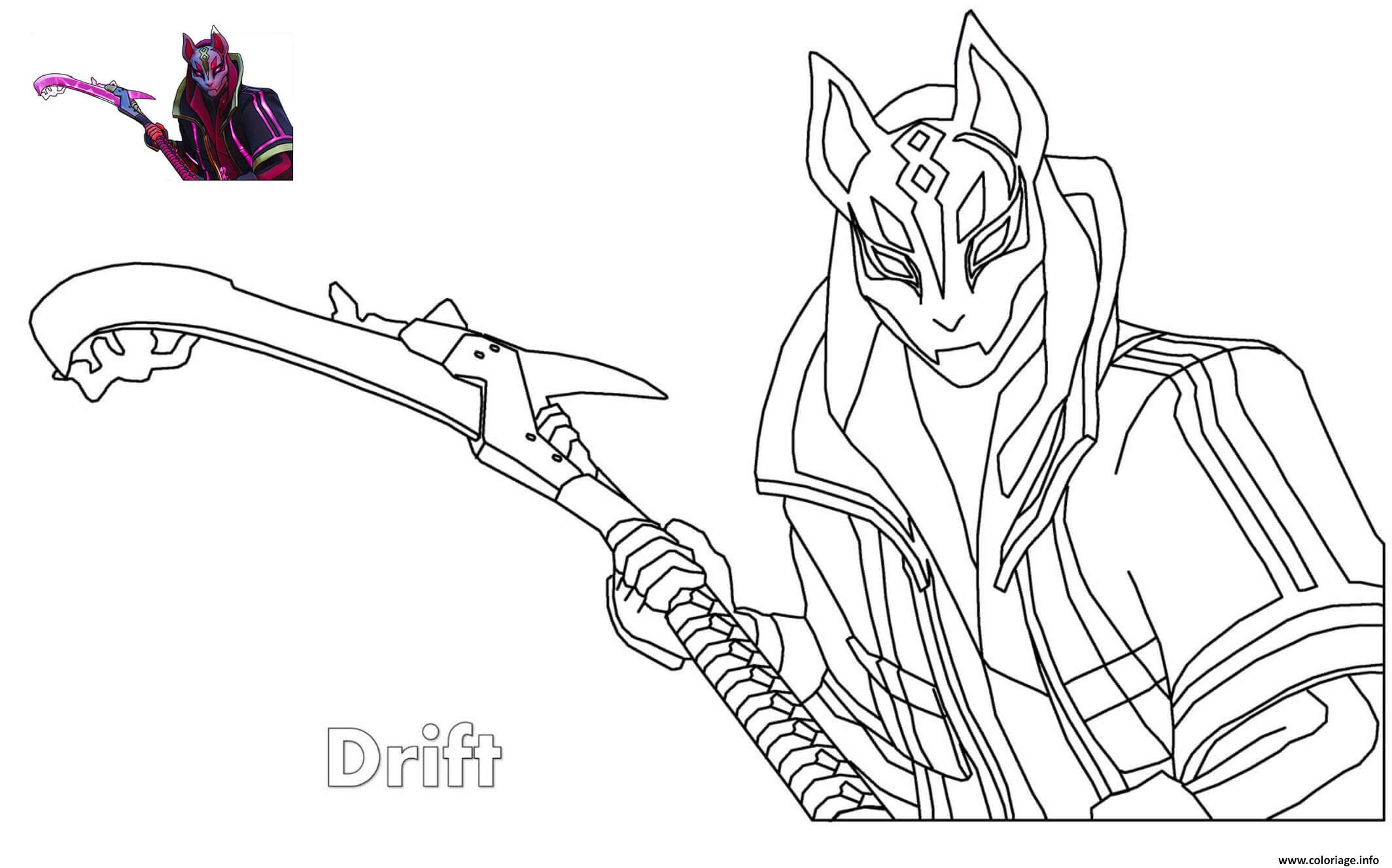 Coloriage Drift Ultimate Fortnite Jecolorie Com