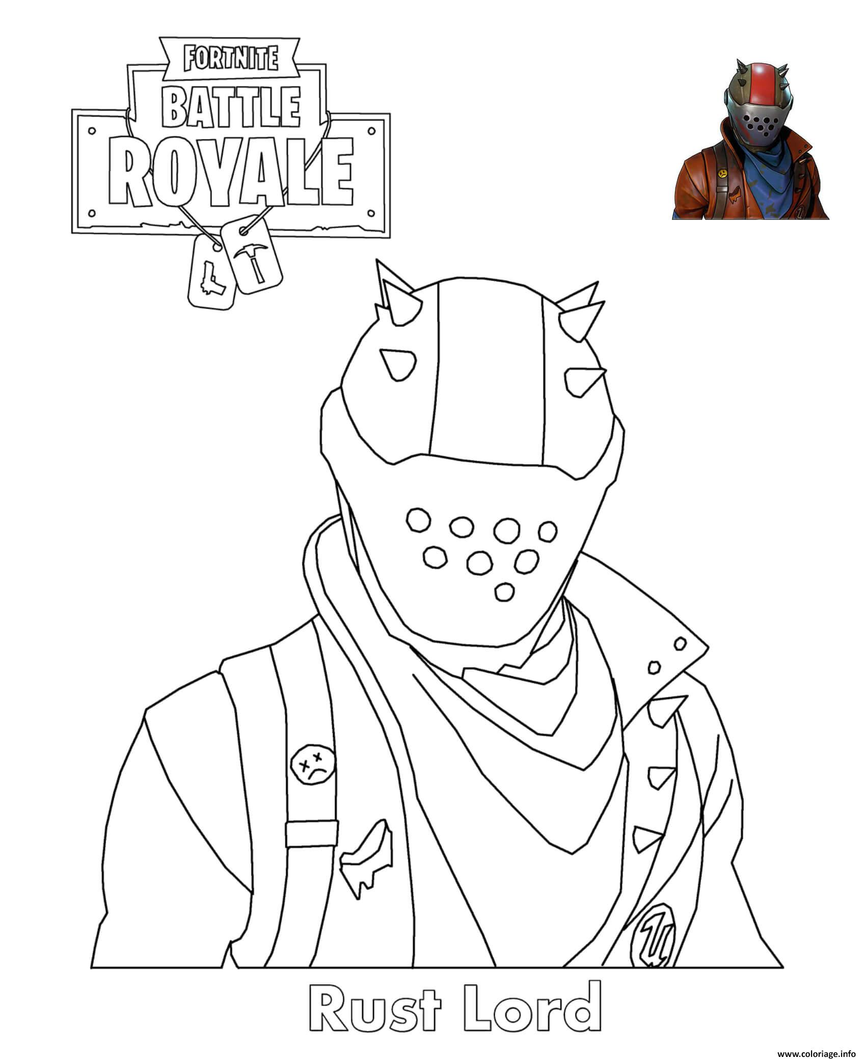 Coloriage Rust Lord Fortnite Battle Royale Dessin