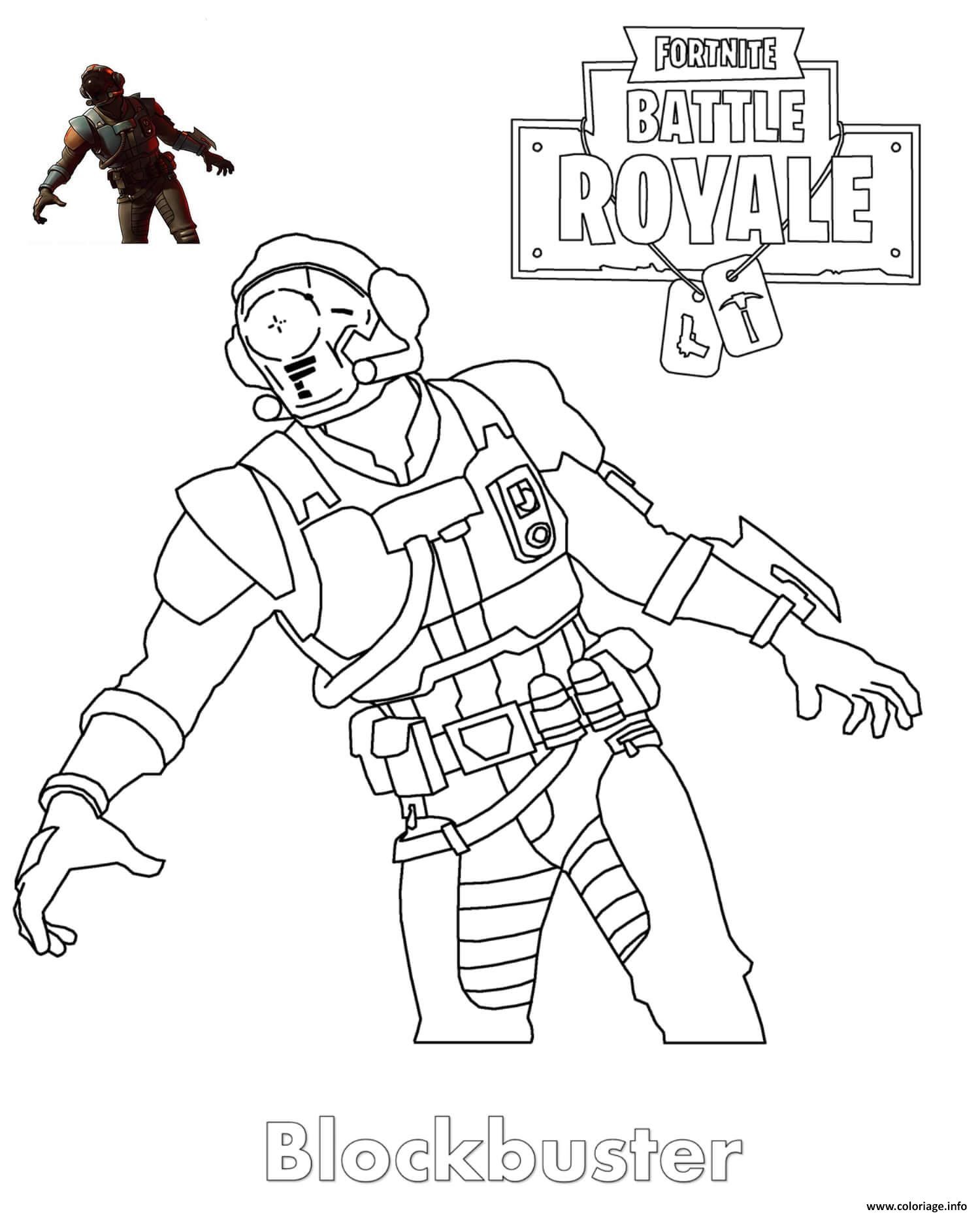 Coloriage Blockbuster Fortnite Skin Jecolorie Com