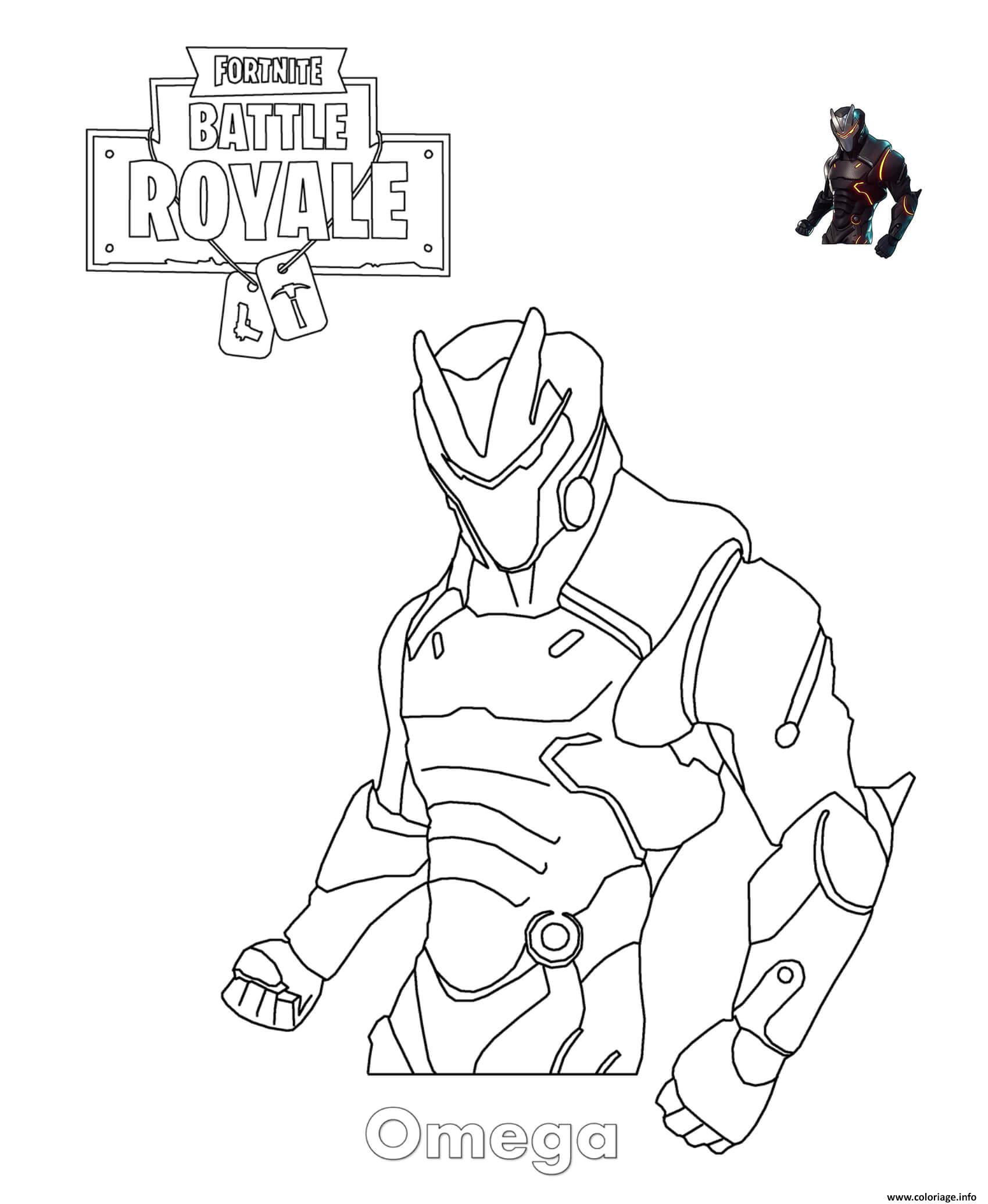 Coloriage omega fortnite - Comment dessiner un lynx ...