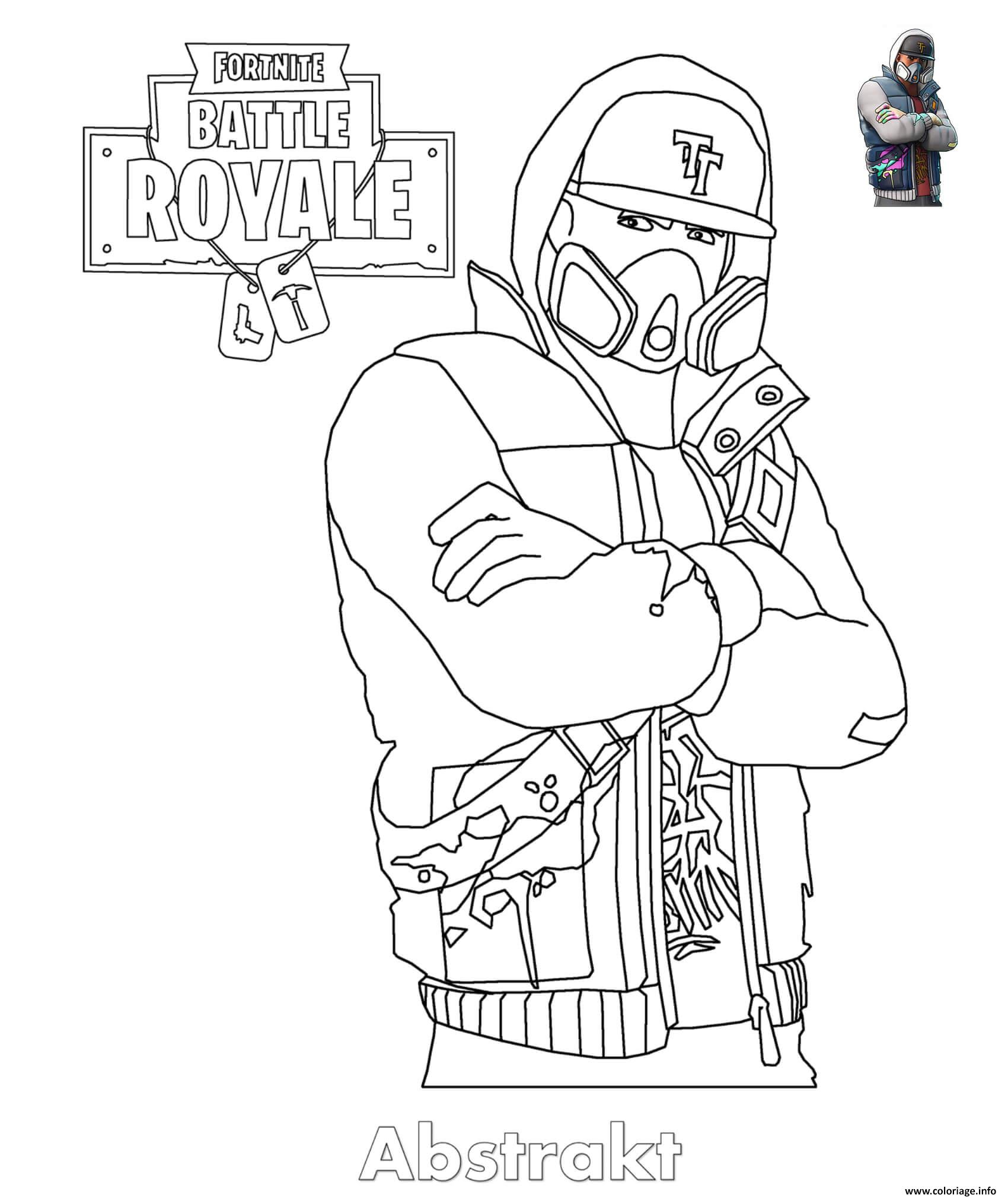 Coloriage Abstrakt Fortnite Skin Dessin
