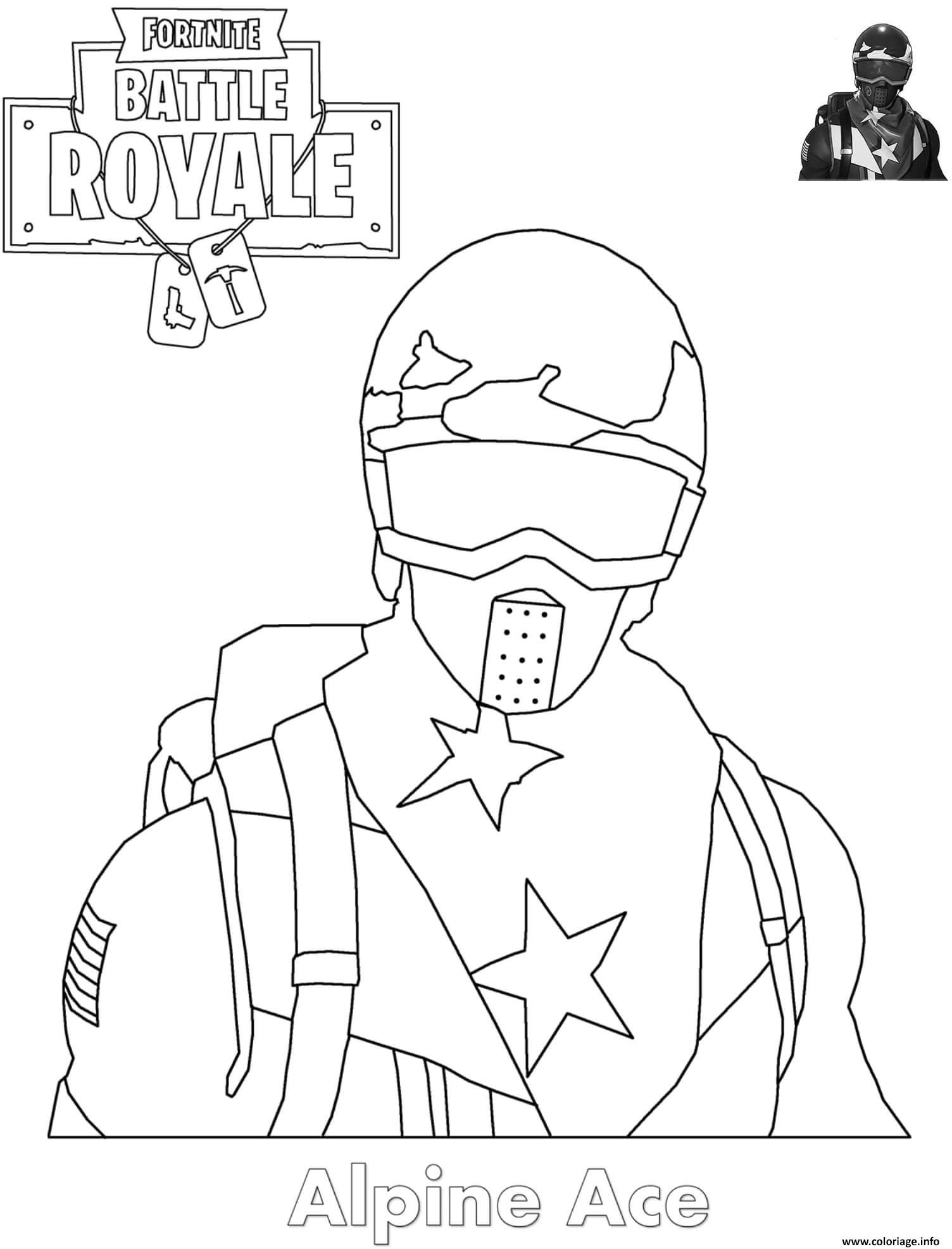 Coloriage Alpine Ace Skin Fortnite Dessin