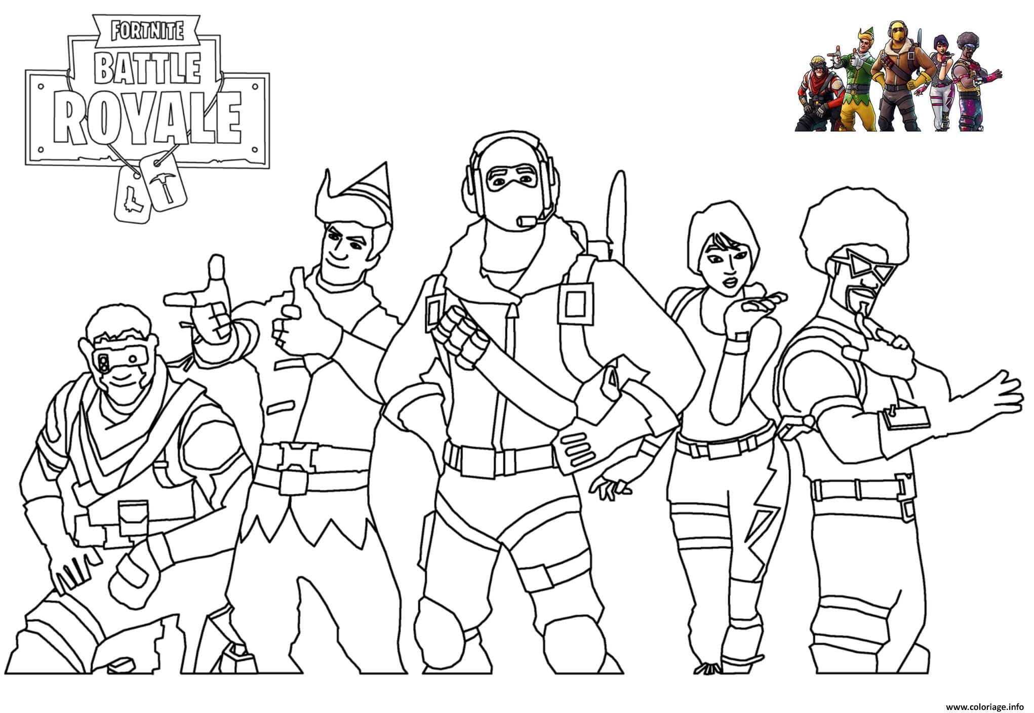 Coloriage Skins Picture Fortnite Jecolorie Com