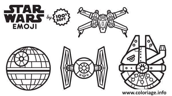 Dessin star wars emoji vaiseaux Coloriage Gratuit à Imprimer