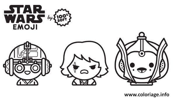 Dessin star wars emoji saga anakin Coloriage Gratuit à Imprimer