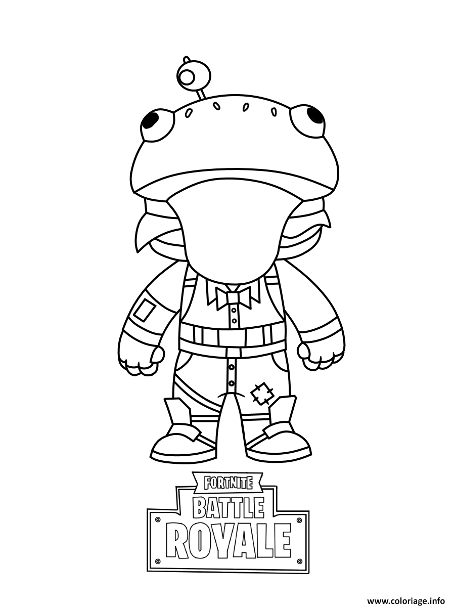 Coloriage Fortnite Mini Frog Dessin