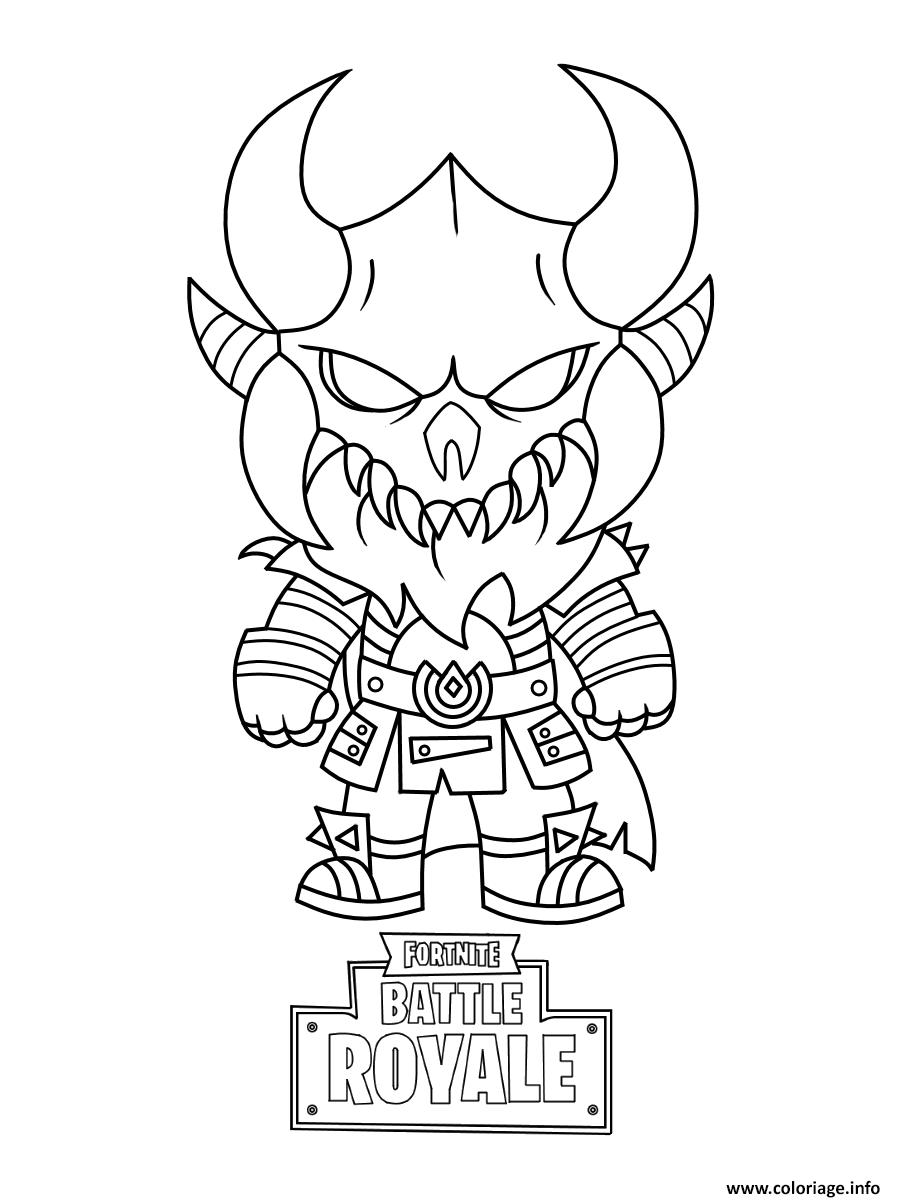Coloriage Fortnite Graffeuse.Coloriage Fortnite Mini Cute The Dark Viking Jecolorie Com