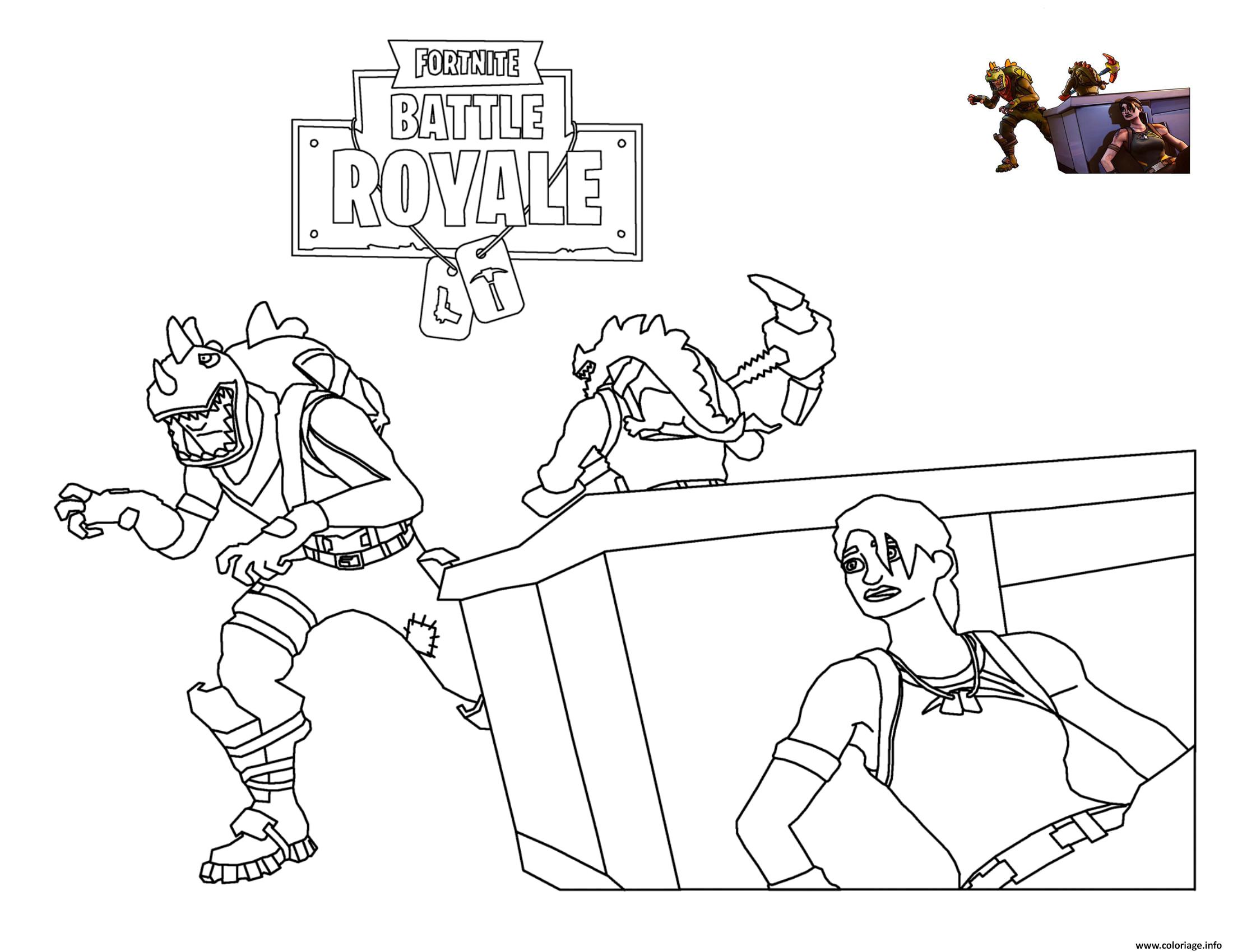 Coloriage Rex Loading Screen Fortnite Dessin à Imprimer