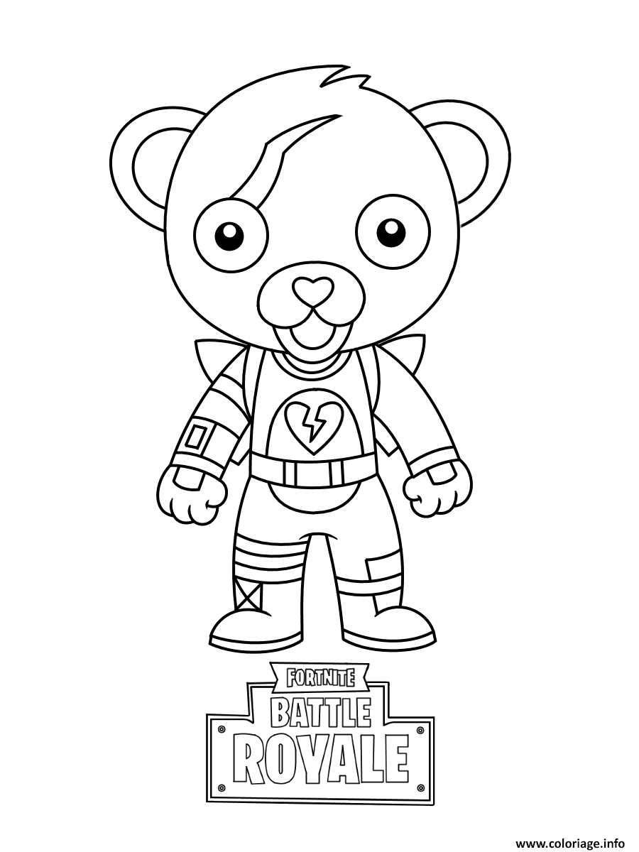 Coloriage Cute Mini Cuddle Team Leader Fortnite Dessin