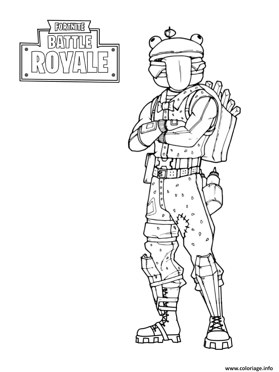 coloriage fortnite frog skin dessin