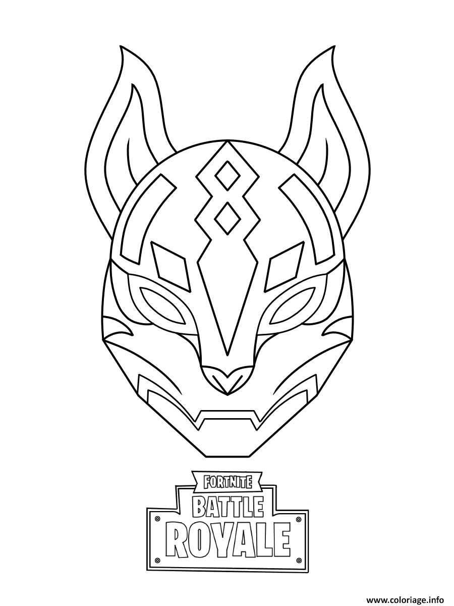 Coloriage Drift Ultimate Mask Fortnite Jecolorie Com