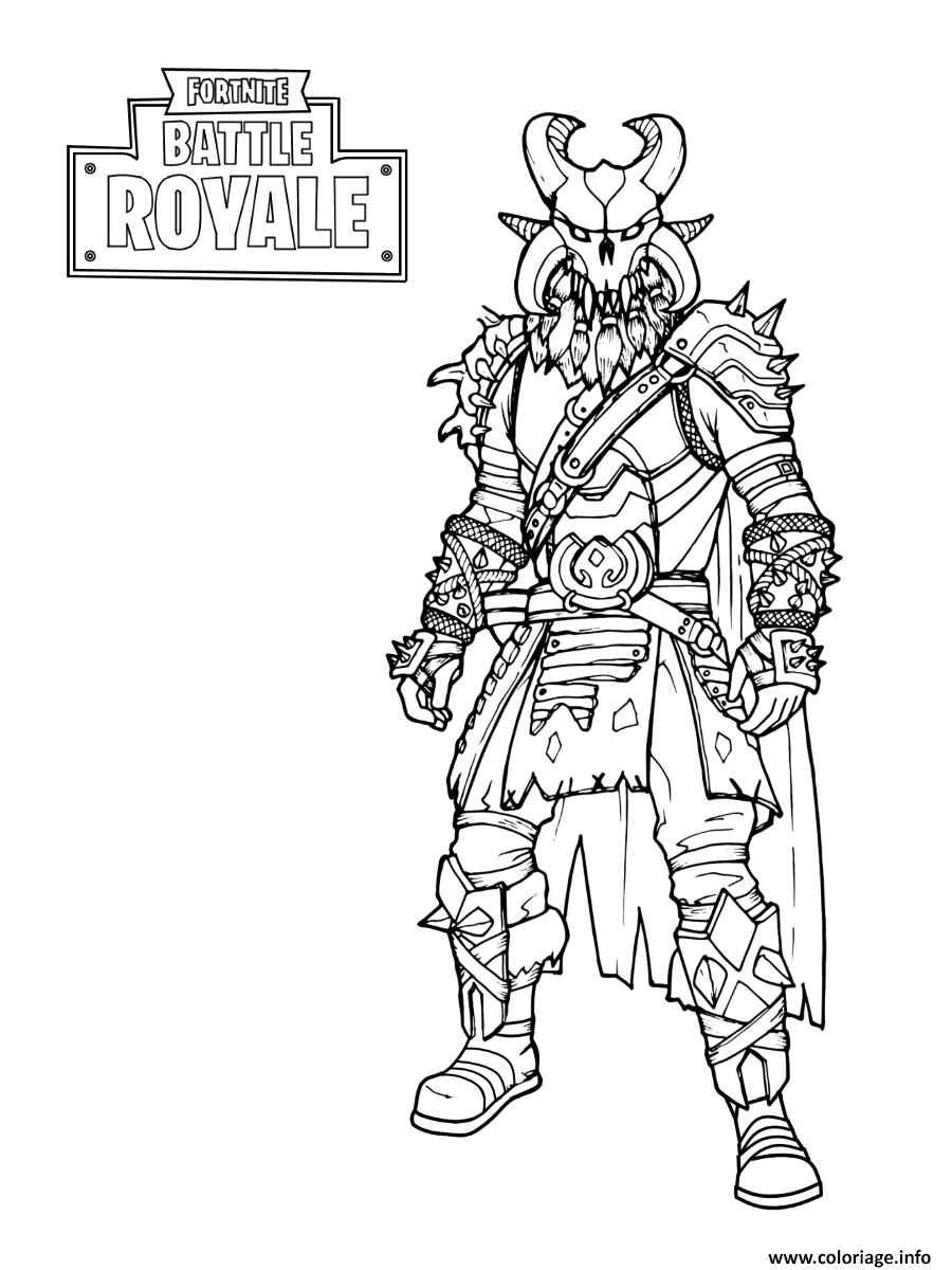 Coloriage Fortnite The Dark Viking Jecolorie Com