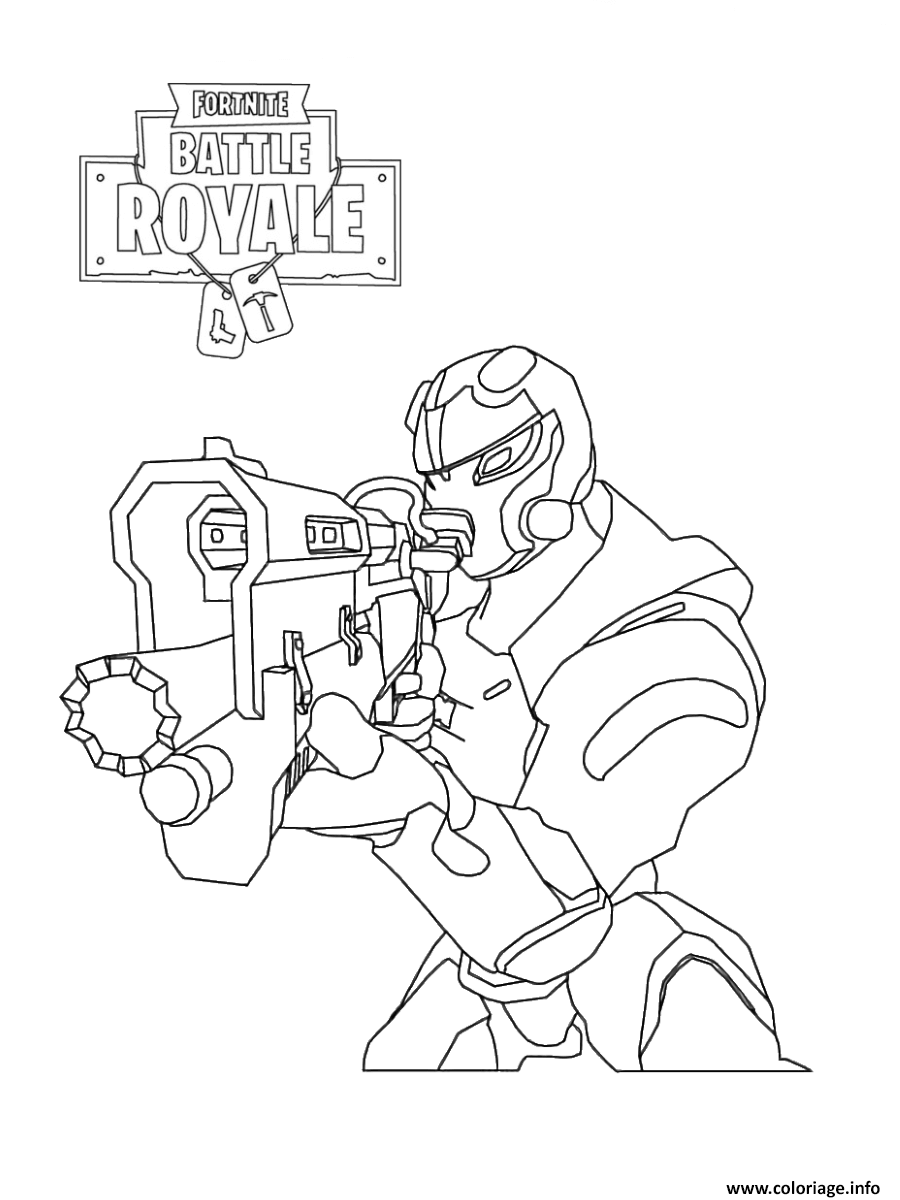 Coloriage Fortnite Personnage Omega.Coloriage Fortnite Soldier Jecolorie Com