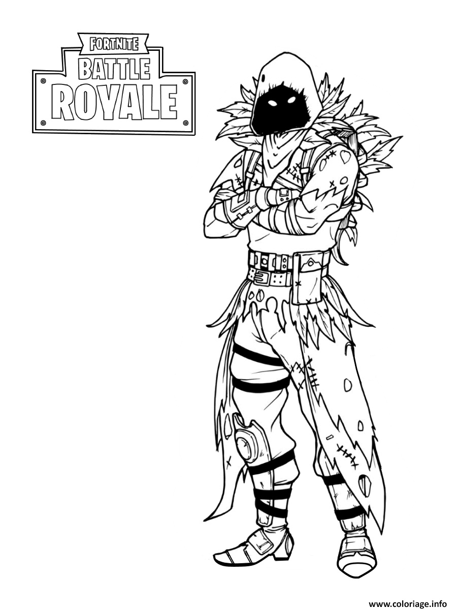 Coloriage Fortnite Nevermore Soldier dessin