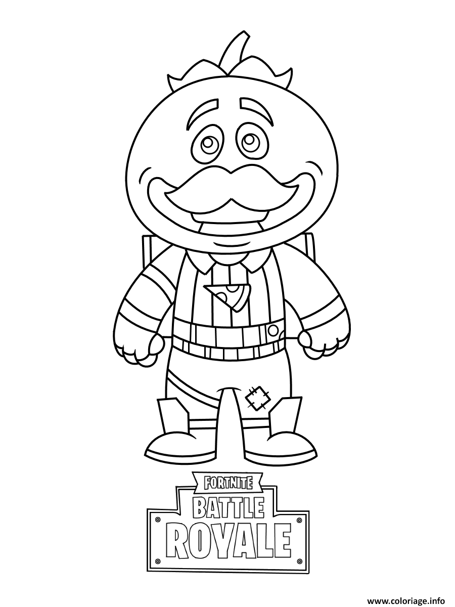 Coloriage Mini Fortnite Tomatohead Dessin