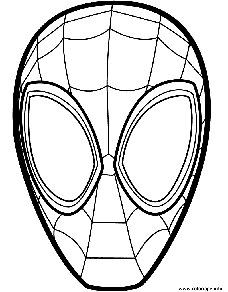 Coloriage Spider Man Mask Jecolorie Com