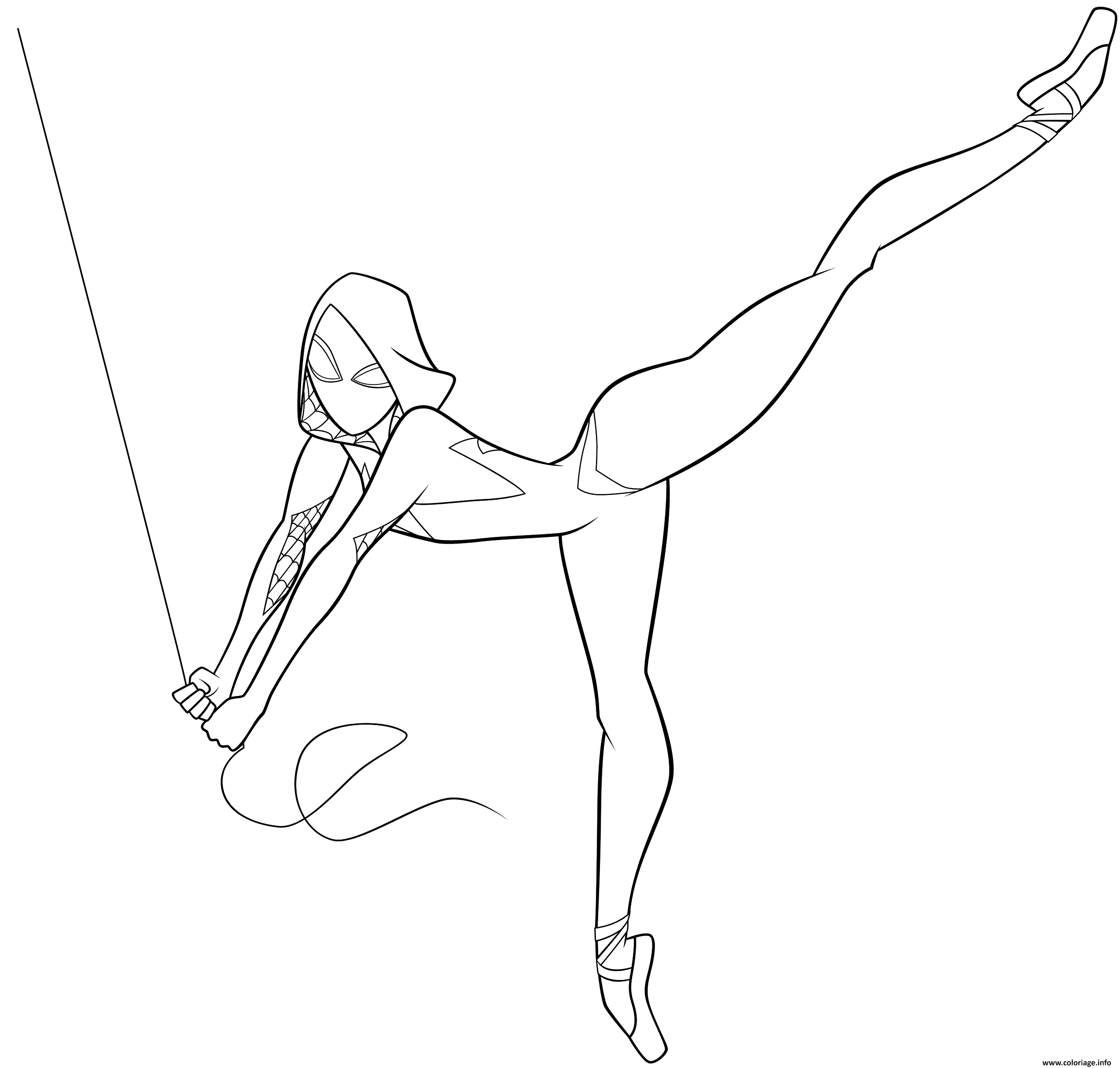 coloriage spider spider gwen jecolorie