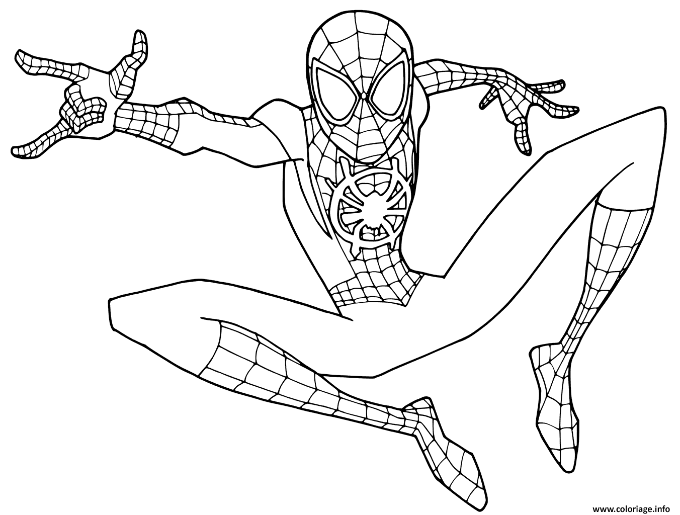 Coloriage Young Spider Man Jecolorie Com