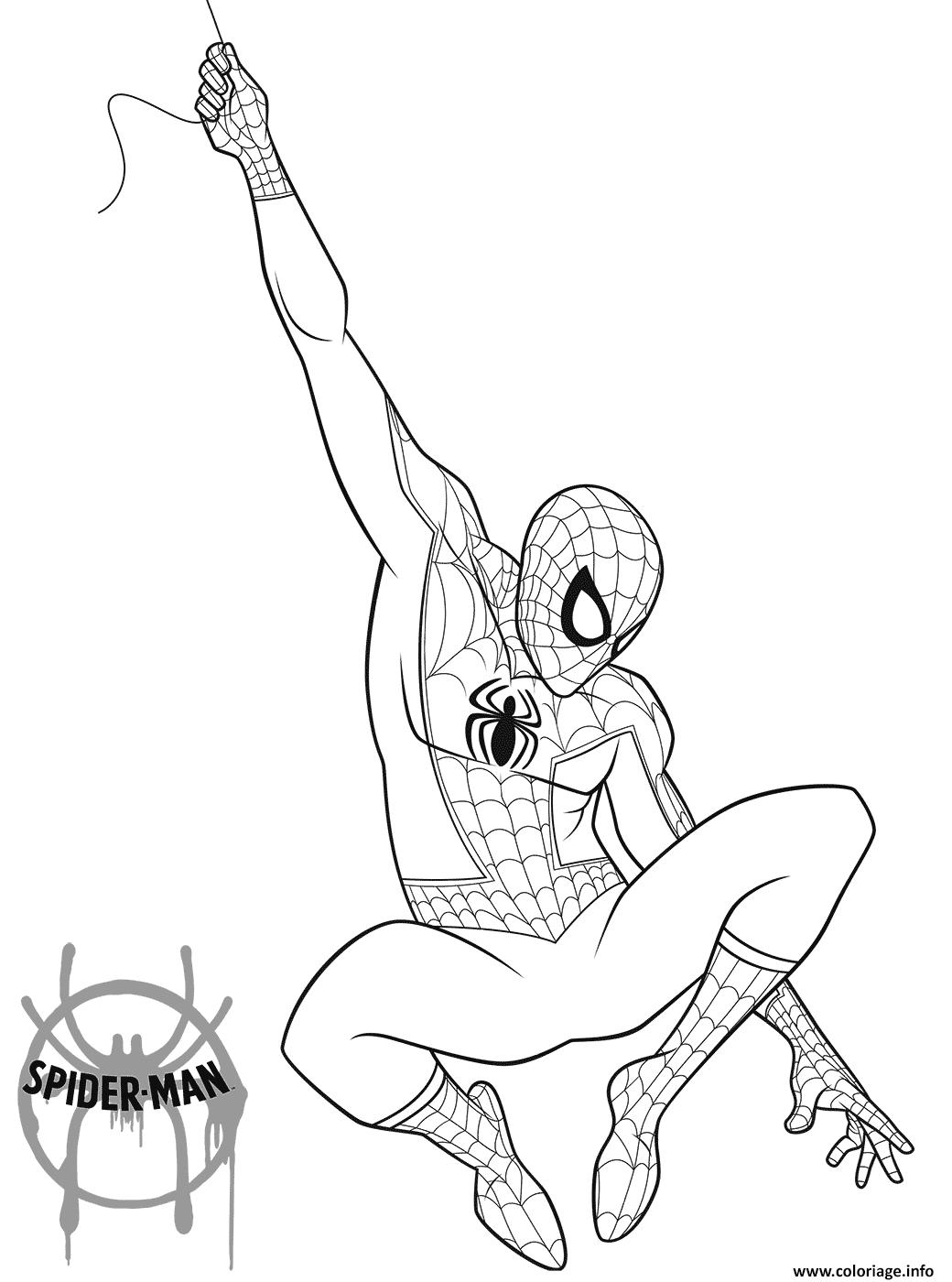 Coloriage Spider Cochon.Coloriage Spider Man 2018 Jecolorie Com