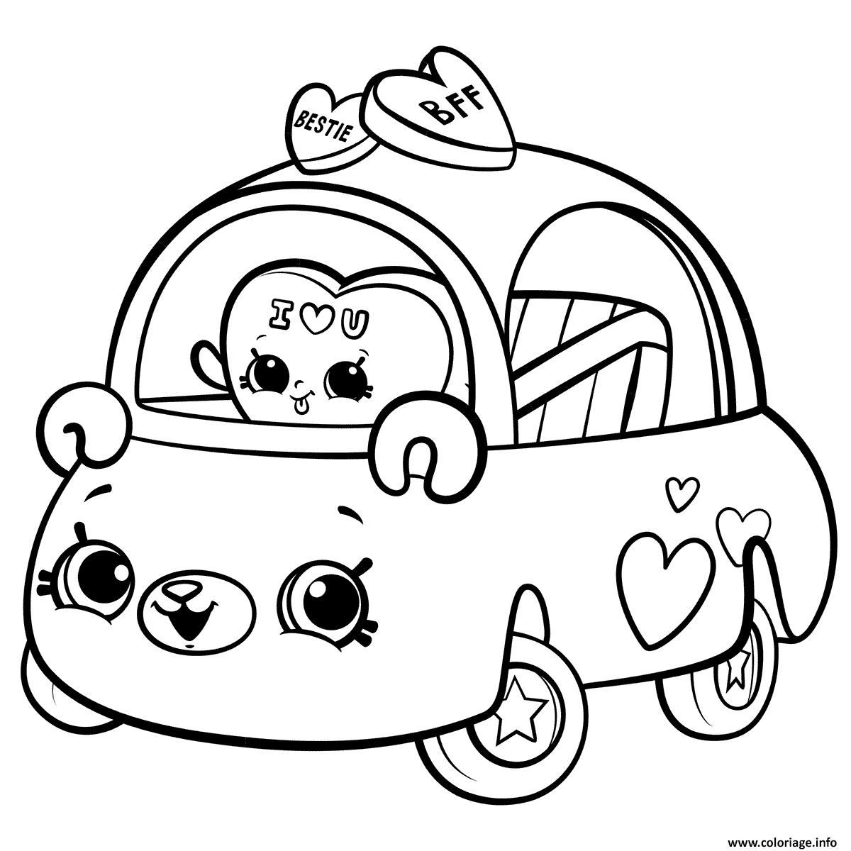 Dessin Cutie Cars for Girls Coloriage Gratuit à Imprimer