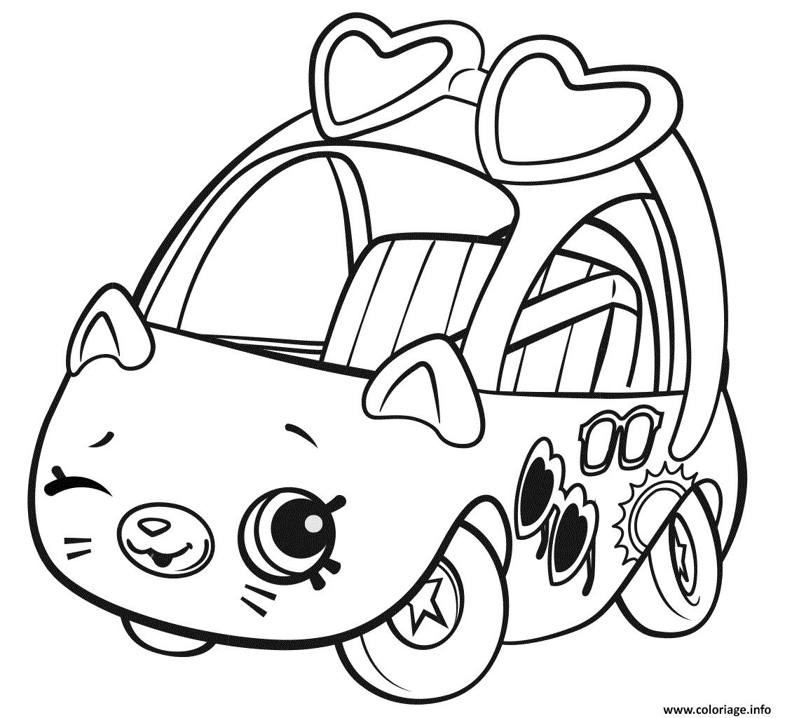 Coloriage shopkins cutie cars sunny sedan dessin - Dessin de cars a colorier ...